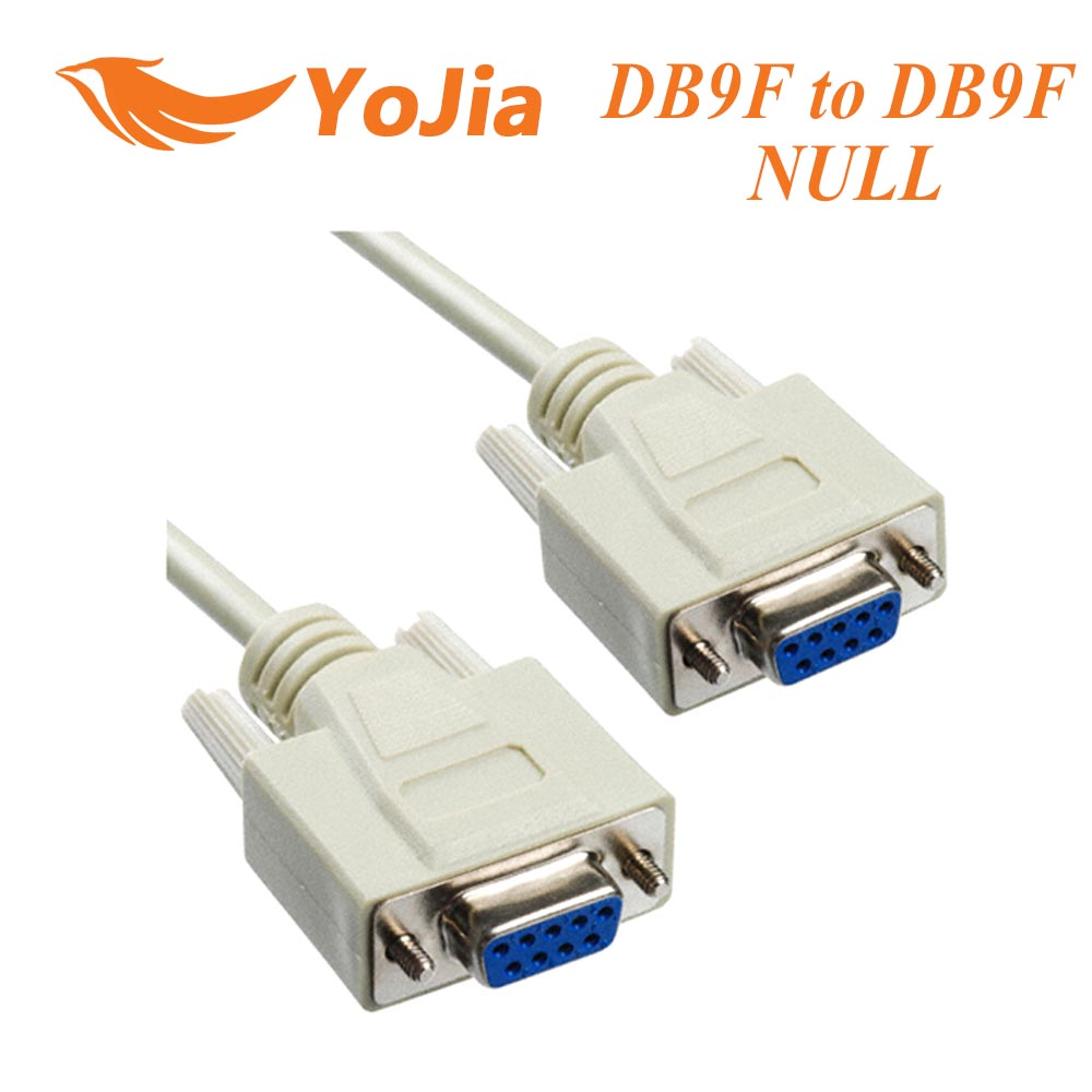 10pcs New Serial Null Modem Cable DB9F to DB9F RS232 to RS-232 free shipping post(China (Mainland))