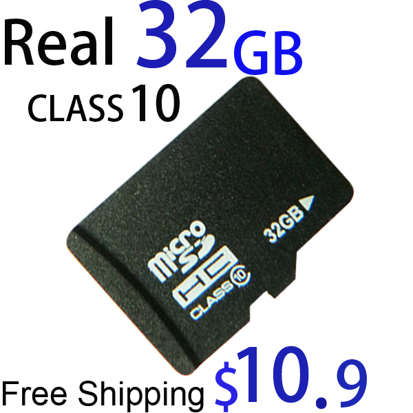 Real capacity 32GB MICRO SD CARD class 6 64gb CLASS 10 MICROSD HC MICROSDHC TF FLASH MEMORY WITH ADAPTER