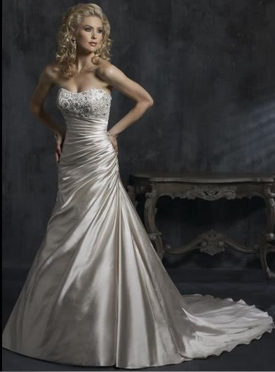 2015 New white/ivory wedding gown wedding dress bridal gown custom size US2-4-6-8-10-12-14-16-18