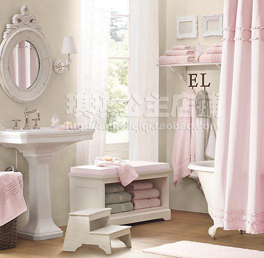 The Girl In The Brick House Help Bathroom Lighting: S&V HOT SALE! European Style Elegant Shower Curtain Pure Fresh Pink Bath Room Curtains Ruffle