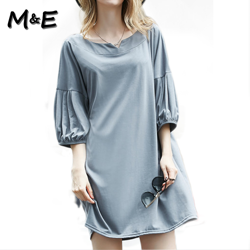 2016 summer plus size xl 4xl 5xl solid women loose fashion for Soft cotton dress shirts