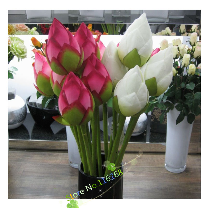 Single lotus flower bud simulation festive & party supplies home decoration artificial flowers To send his girlfriend gift t2(China (Mainland))
