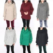 2016  Winter  women American apparel   unisex oversized fishman turtle neck sweater loose Sweater(China (Mainland))