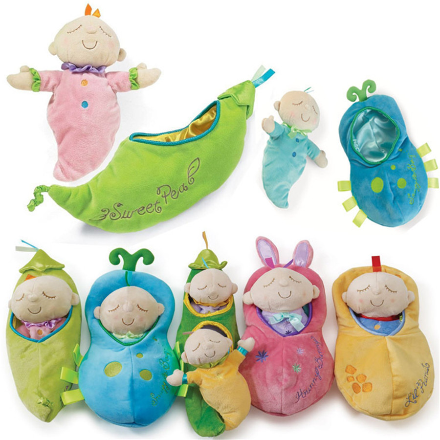 2016 child cute Pea prince/princess calm doll Baby plush toys children Stuffed plush Toy Infant Appease TOYS High Quality TO86(China (Mainland))