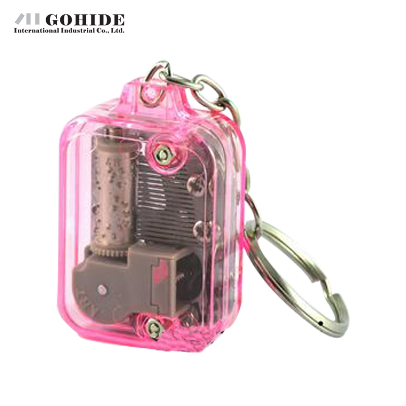 Gohide Mini Multiple Colour Square Keychain Music Box Pink Portable Hand Plastic Music Box Creative Gifts For Valentines Day(China (Mainland))