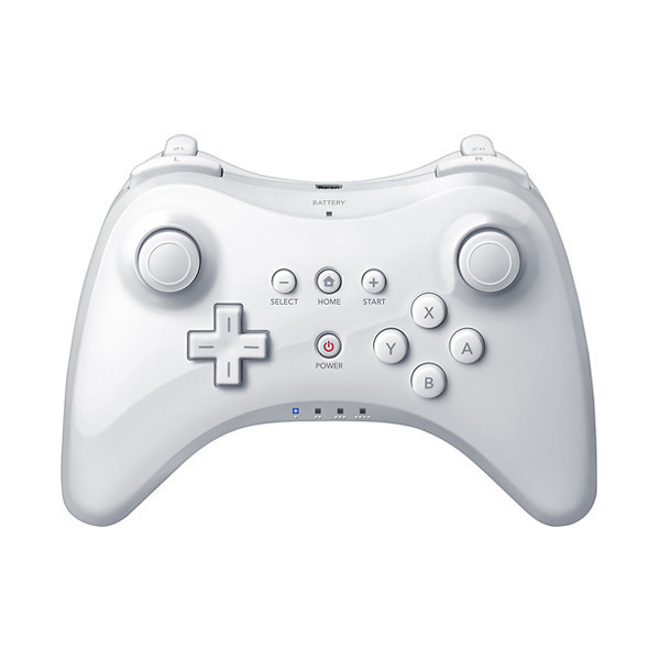 white extension wireless pro controller for nintendo wii u. Black Bedroom Furniture Sets. Home Design Ideas