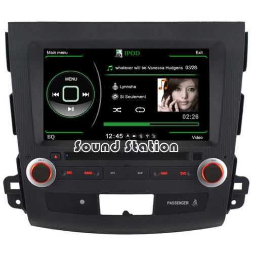 Car Accessories Auto Spare Parts For Mitsubishi Outlander XL EX DVD Touch Screen Monitor S100 Media Multimedia Entertainment(China (Mainland))