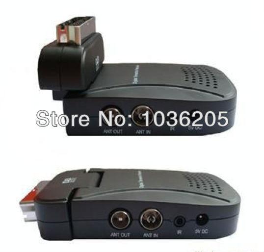 Free shipping Scart Mini USB TV Box Scart DVB-T Digital TV Receiver New(China (Mainland))