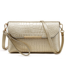 Buy PU Leather Alligator Clutch Bag Fashion Women Messenger Shoulder Bags Ladies Evening Party Purse Clutch Bag Casual Small Handbag for $22.46 in AliExpress store