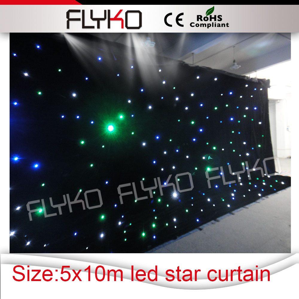 RGB 5x10m wedding equipments/tv show star curtain light display curtain for big stage(China (Mainland))