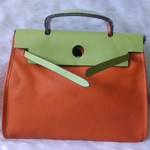 High Quality Women Designer Orange Green Mixed Colors Messenger Bag Shoulder Togo Genuine Leather 31cm Famous Brand Handbags<br><br>Aliexpress