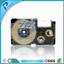 Factory price 12mm black on clear EZ label tape XR-12X compatible KL-60 KL-780 KL-120