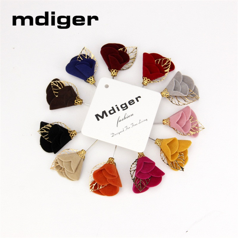 Mdiger Wedding Bridegroom Brooches Casual Jewelry Colorful Handmade Metal Leaf Lapel Pin Men's Vintage Brooches Brooch Bouquet(China (Mainland))
