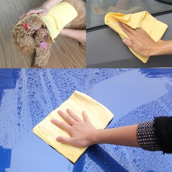 Automobile PVA deerskin Towel Car Wash Cleaning Cloth PET Hair PET Drying with opp bag packing