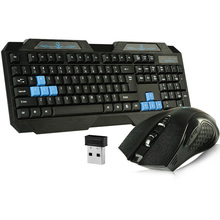 Professional 2.4G wireless keyboard and mouse powerful performance set with auto-sleep mode gaming computer plug keyboard(China (Mainland))