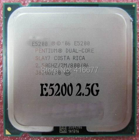 Original E5200 Desktop cpu for Intel Pentium E5200 2.5GHz 2M Cache 800 MHz Socket 775 Dual Core Desktop Processor Free Shipping(China (Mainland))