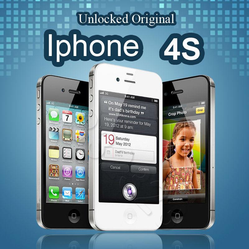 100% Original Unlocked IPhone 4S Mobile Phone 16GB 32GB 64GB ROM Dual core WCDMA 3G WIFI GPS 8MP Camera Used Apple Cell Phone(China (Mainland))