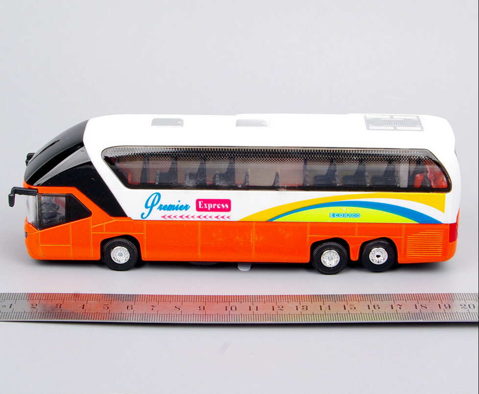 1:32 Scale Bus Models Toy New York Double Decker Sightseeing Tour Bus 1/32 Diecast Car Model w/light&sound Collectible Model(China (Mainland))