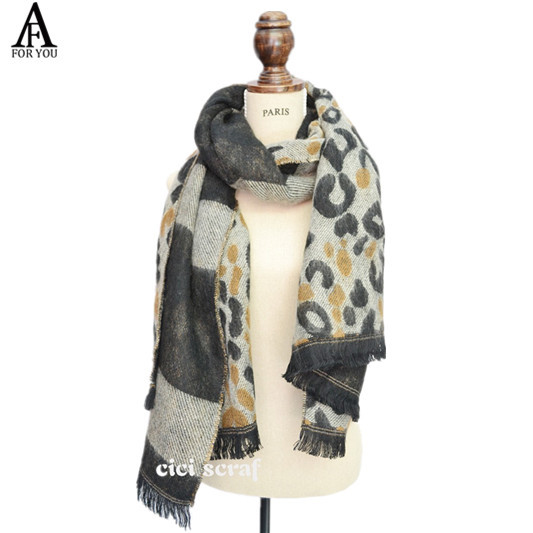2016 New Style Winter desigual Brand Cashmere leopard print scarf Unisex Scarves Top Quality Luxury Design Women Pashmina(China (Mainland))