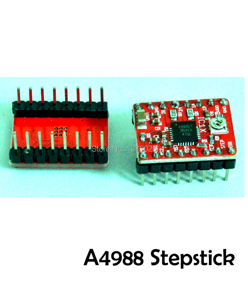 Free shipping StepStick A4988 Stepper Driver & Heatsink For Reprap Prusa Mendel RAMPS 3D printer(China (Mainland))