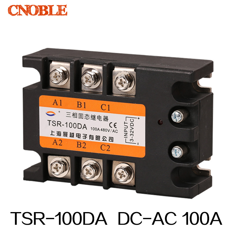 Three phase Solid state relay TSR-100DA 100A SSR Relay<br><br>Aliexpress