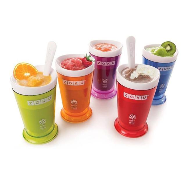 5 Candy Colors Zoku Smoothie Cup Ice Cream Machine DIY Milkshake Without Electricity Sand Bottle - Happy Angel Garden store