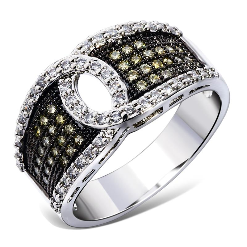 fashion women fingerring 2014 new arrivals new 2 tone color combinations best for anniversary gift()