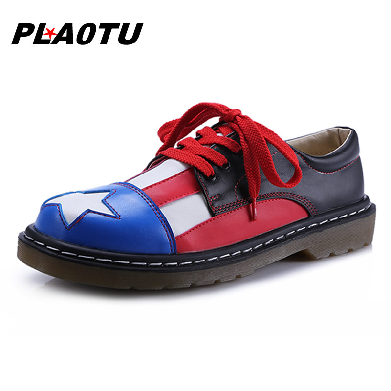 2016 Women Shoes Casual PU Leather Flats Shoes Woman BLACK Fashion Oxford Shoes For Women Flats Ladies Zapatos Mujer