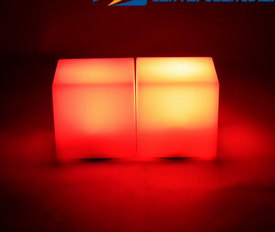 Romantic lighting LED Seven Colors Changing Mood Cubes Night Glow Lamp Light Gadget Gizmo Home Decoration Colorful New(China (Mainland))