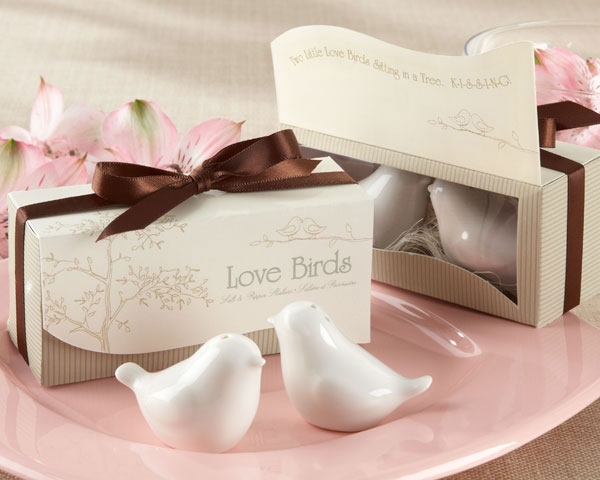 200sets(400pcs)/lot Wedding Favors Love Birds Salt and Pepper Pot Ceramic Spice Jars(China (Mainland))