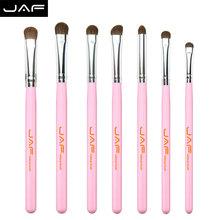 7pcs Eye Brushes Set Pink Makeup Brush Sets makeup brush kit Natural Eye Shadow Brushes Blending Pencil Kit