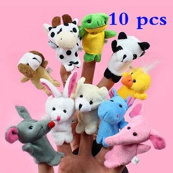 Высокое качество 10x мультфильм биологических животных пальцем кукольный плюшевые игрушки для детей детские пользу куклы P4