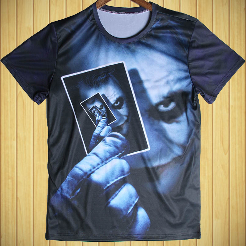 Cool Skull/Knight 3D Man T shirt Fashion 4XL Large Size Joker sports t-shirts New Final Fantasy/Bird/Spider-Man Tee Shirt(China (Mainland))