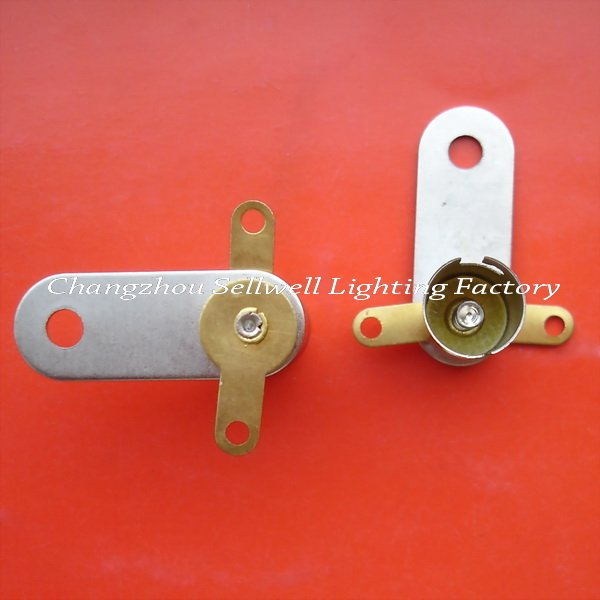 Free shipping NEW!Lamp-holder Ba9s Flat foot D313(China (Mainland))