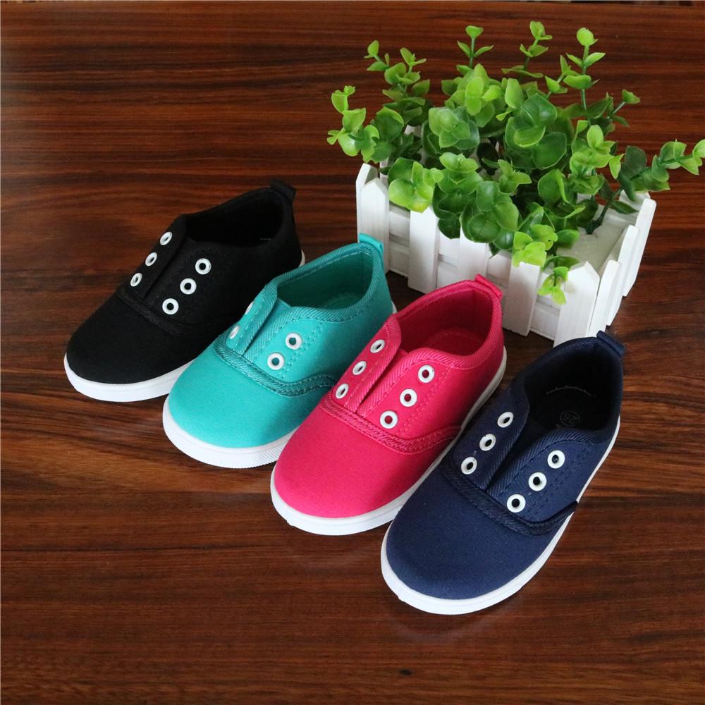 Apakowa 2017 Spring Kids Canvas Shoes Toddler Boys Girls Canvas Sneakers Children Canvas Shoes Girls Flats Slip on Casual Shoes(China (Mainland))