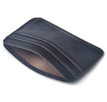 Buy Ultra- Thin Slim Credit Card Holder PU Leather Mini Wallet ID Case Purse Bag Pouch Men Women Business Black Credit Card Holder for $2.05 in AliExpress store