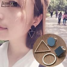 Buy 2017 New Hot Sale Irregular Women Round Triangle Stud Earrings Geometric Ear Studs Jewelry Wholesale ) for $2.10 in AliExpress store