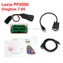 Newest Lexia 3 diagbox v7.56 PP2000 for Citroen Peugeot Professional Diagnostic Tool Lexia3 pp2000 with LED light