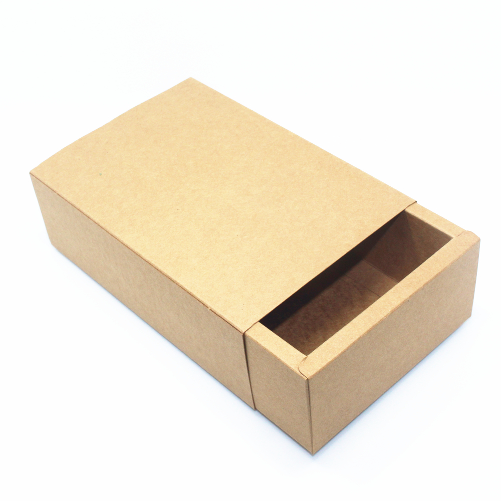 20*12.2*7cm 15Pcs/ Lot DIY Soap Cosmetic Hand Cream Craft Paper Event Pack Box Jewelry Ring Brown Kraft Paper Gift Drawer Box(China (Mainland))