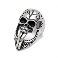 Buy Stainless Steel Punk Jewelry Skull Tongue Ring Men's Biker Rings Halloween Gift Super Width 34mm/1.34inch USA Size 7-12# for $4.98 in AliExpress store