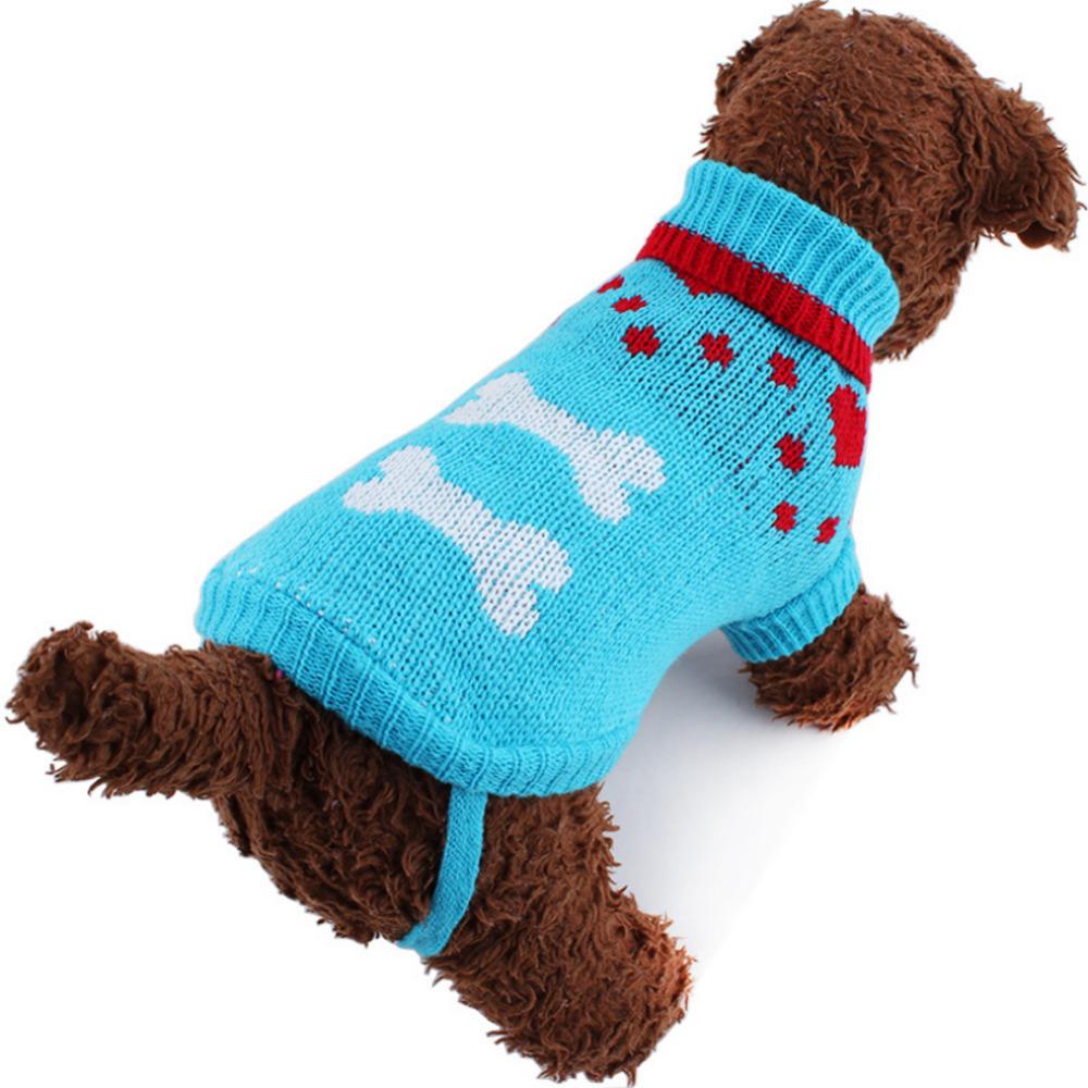 Jumper For Cats Knitting Pattern : Small Cute Dog Cat Puppy Knitted Jumper Sweater Coat Fairisle Heart Pets Clot...