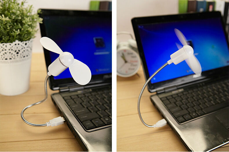 item promotion gift  Promotional mini usb fan with led clock cheap small