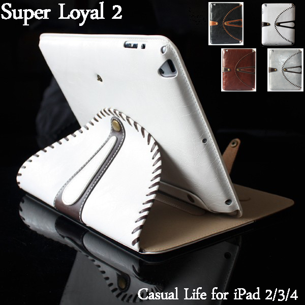 Super Fashion Luxury PU Leather Smart Case Cover for iPad 2 3 4 Casual Life Stand Cover in Excellent Quality(China (Mainland))