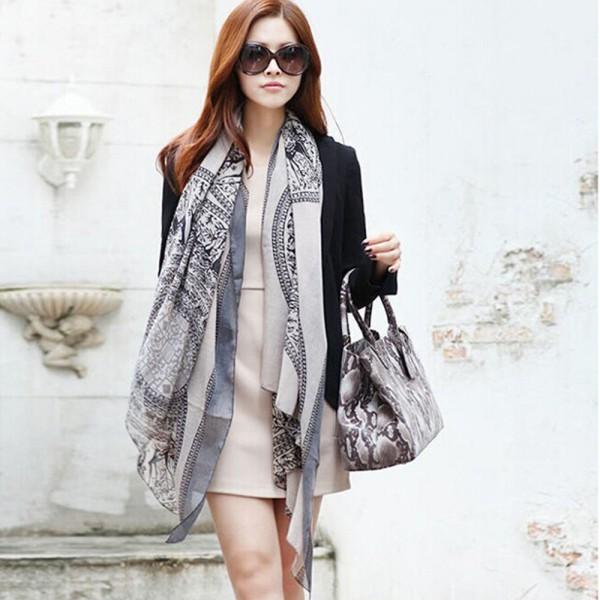 Цена от производителя! Мода женщины длинные хлопка печать шаль повелительниц девушки большой шарфы горячий