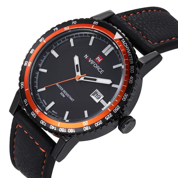 naviforce high quality quartz genuine leather