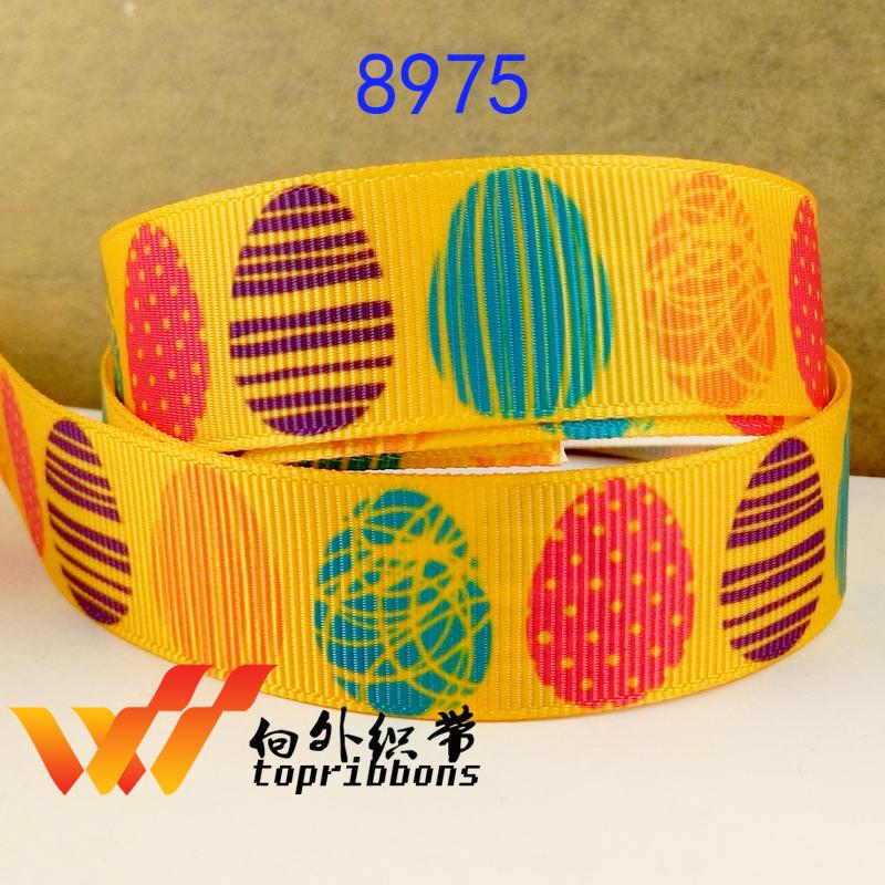 """Free shipping 50 yards 7/8"""" 22mm Easter day ribbon printed grosgrain ribbon 8975-022(China (Mainland))"""