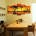 Handmade scenery painting nature modern canvas wall art abstract African landscape canvas oil painting 5