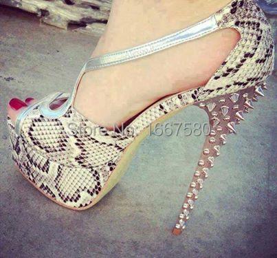 Cociy Womens Summer Sexy Snake Peep Toe Party Fahison Comfortable Sandalias Femininas High Heel Shoes<br><br>Aliexpress