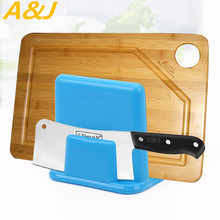 Knives Shelf Place Dishes Cutting Board Plastic Toolholder Green Blue 10.5*9.8*9.5cm Storage Racks Kitchen Organizer Accessories