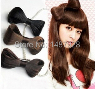 2014 Hot Women Hair Bow Bowknot Wig Hairband Barrettes Women's Hair Accessories Wholesale A242(China (Mainland))